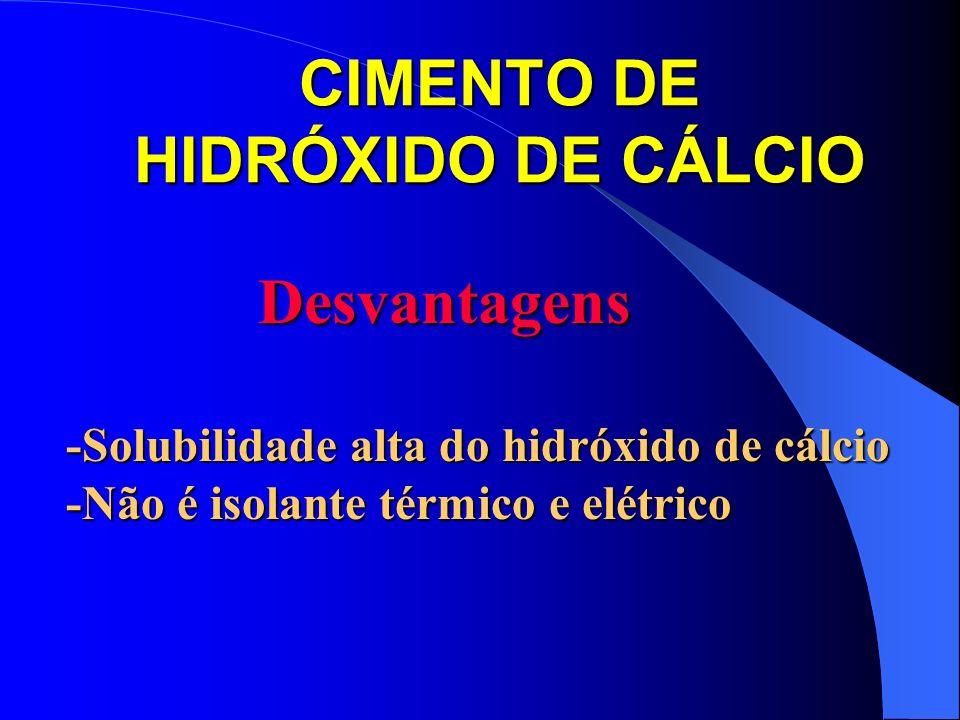 CIMENTO DE HIDRÓXIDO DE CÁLCIO