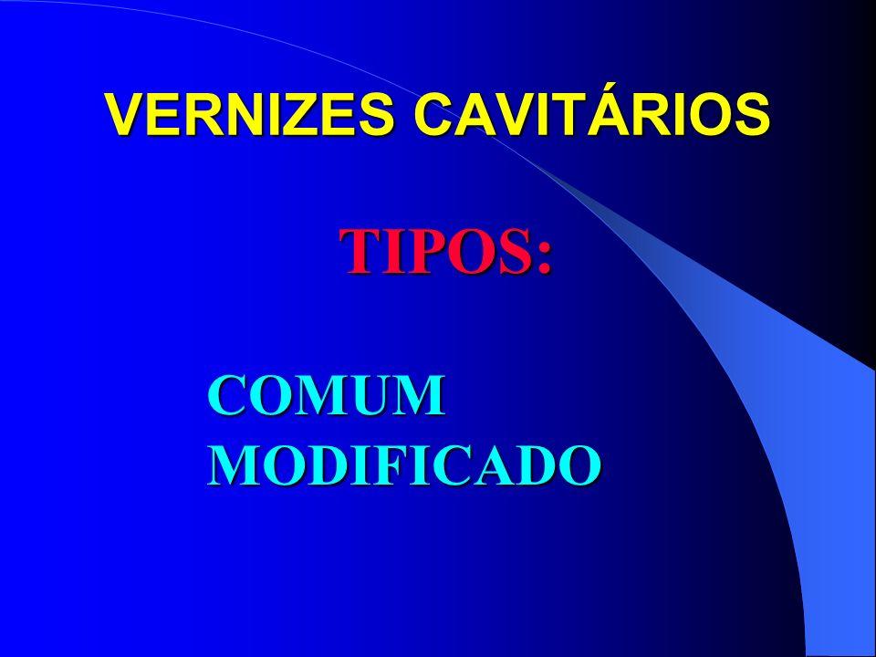 VERNIZES CAVITÁRIOS TIPOS: COMUM MODIFICADO