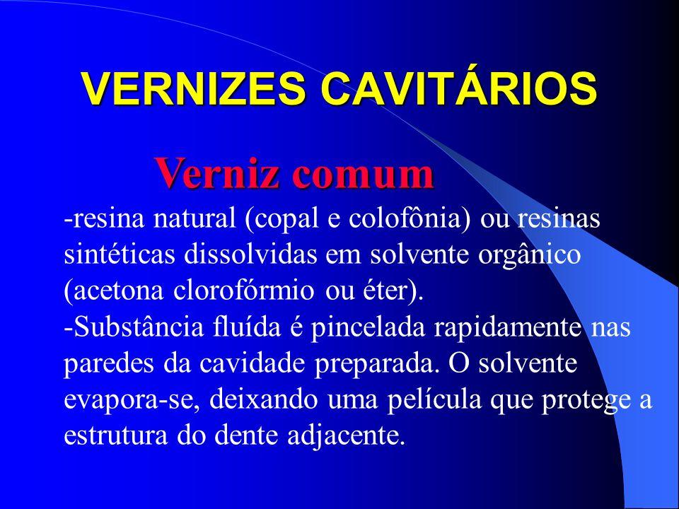VERNIZES CAVITÁRIOS Verniz comum