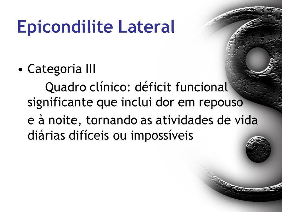Epicondilite Lateral Categoria III