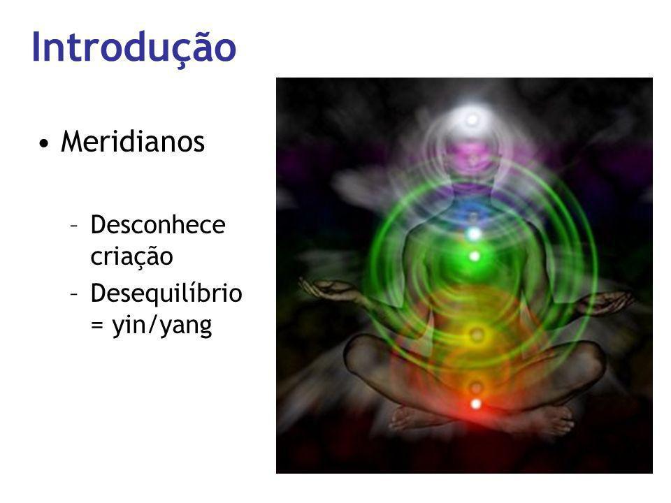 Introdução Meridianos Desconhece criação Desequilíbrio = yin/yang
