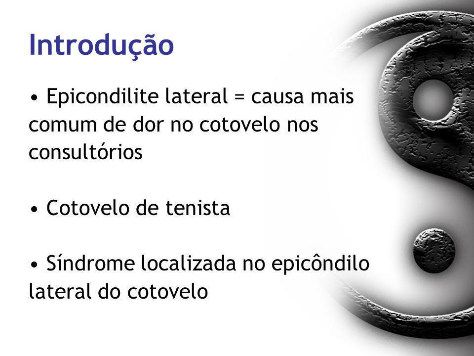 Introdução Epicondilite lateral = causa mais