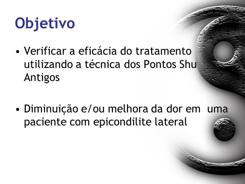 Objetivo Verificar a eficácia do tratamento utilizando a técnica dos Pontos Shu Antigos.