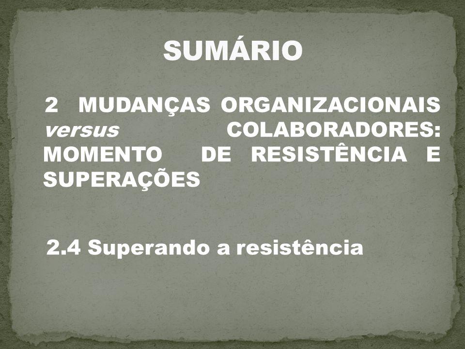 2.4 Superando a resistência