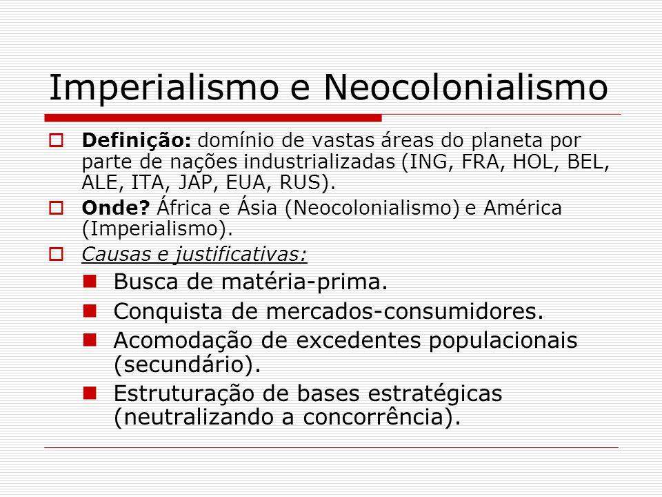 Imperialismo e Neocolonialismo