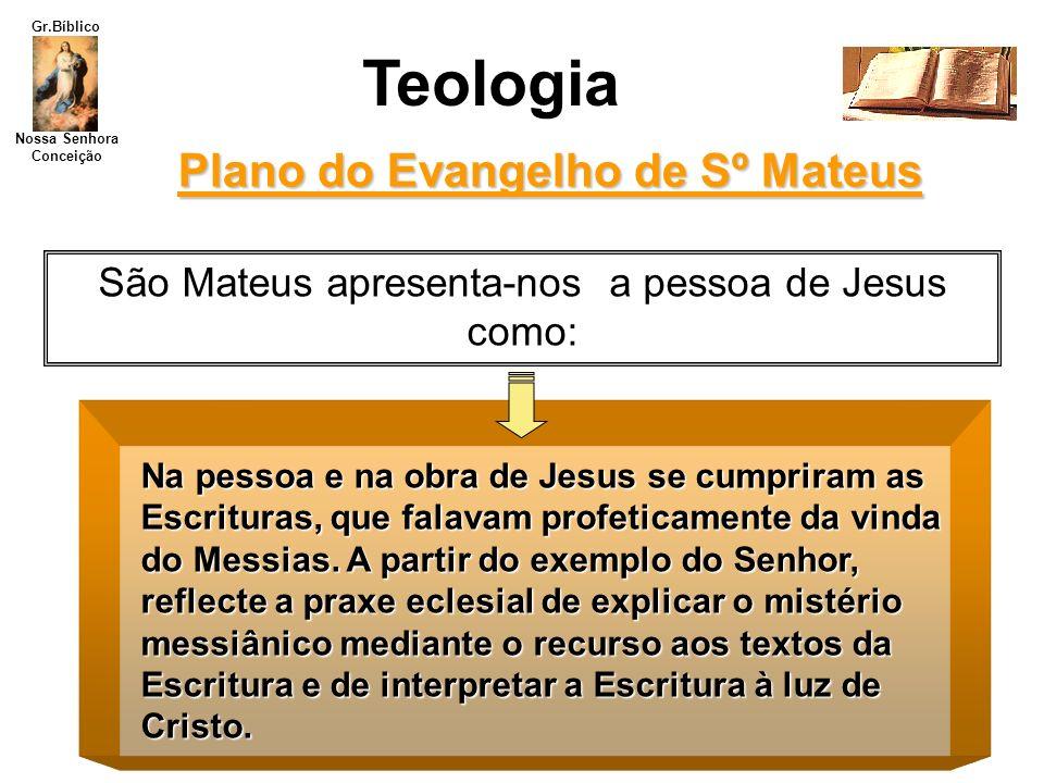 Plano do Evangelho de Sº Mateus