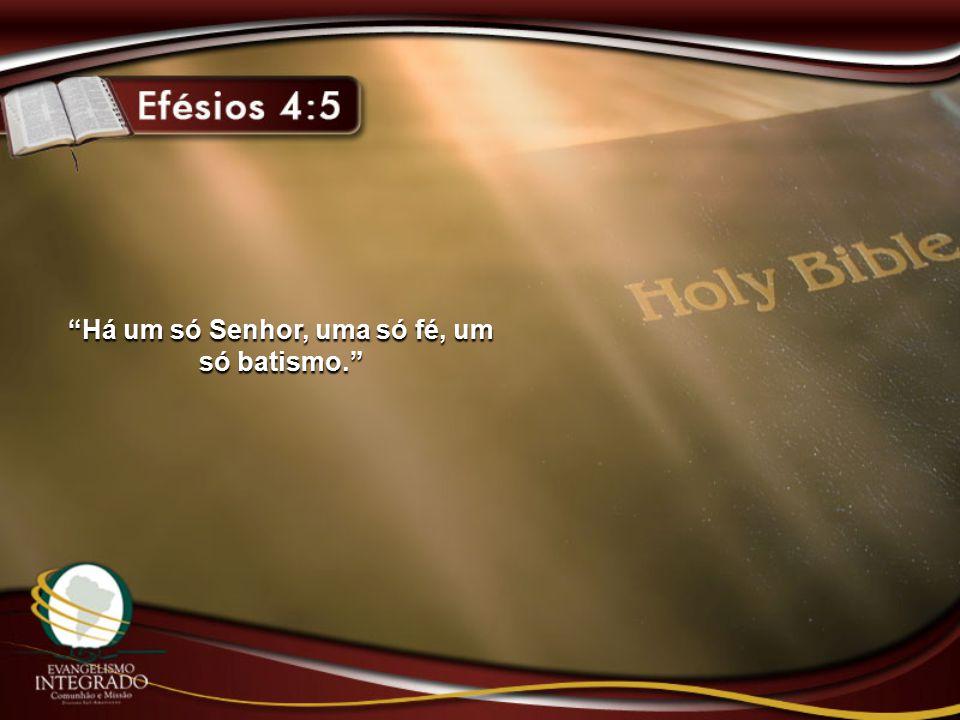 Há um só Senhor, uma só fé, um só batismo.