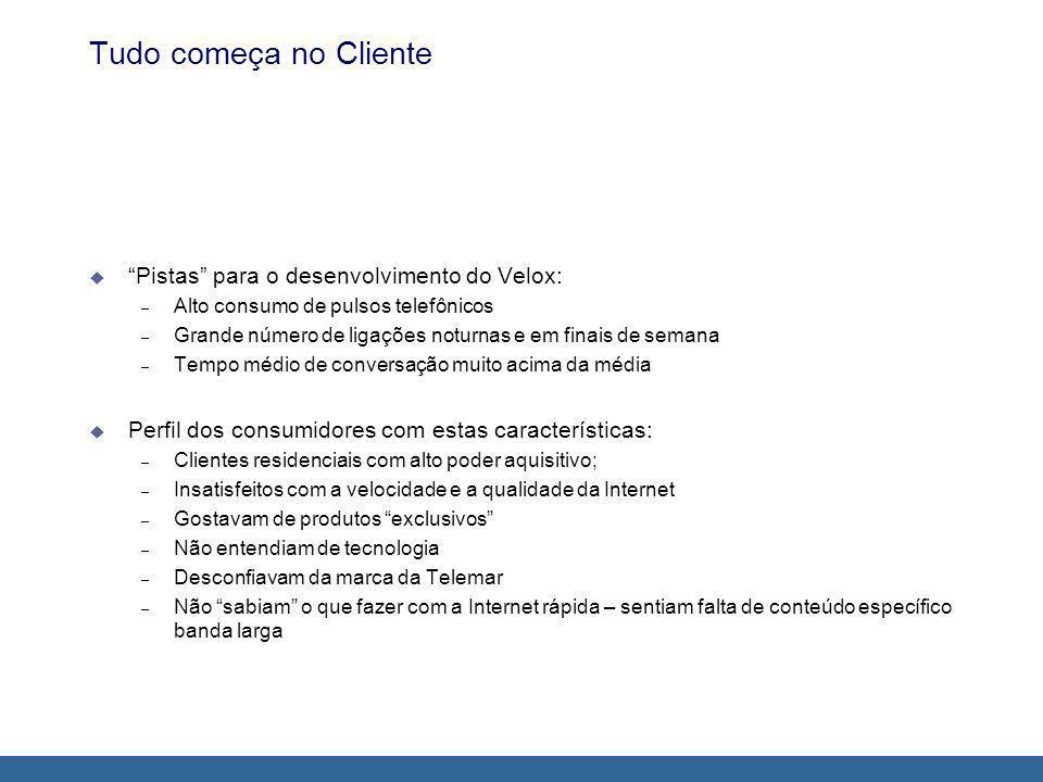 Tudo começa no Cliente Pistas para o desenvolvimento do Velox: