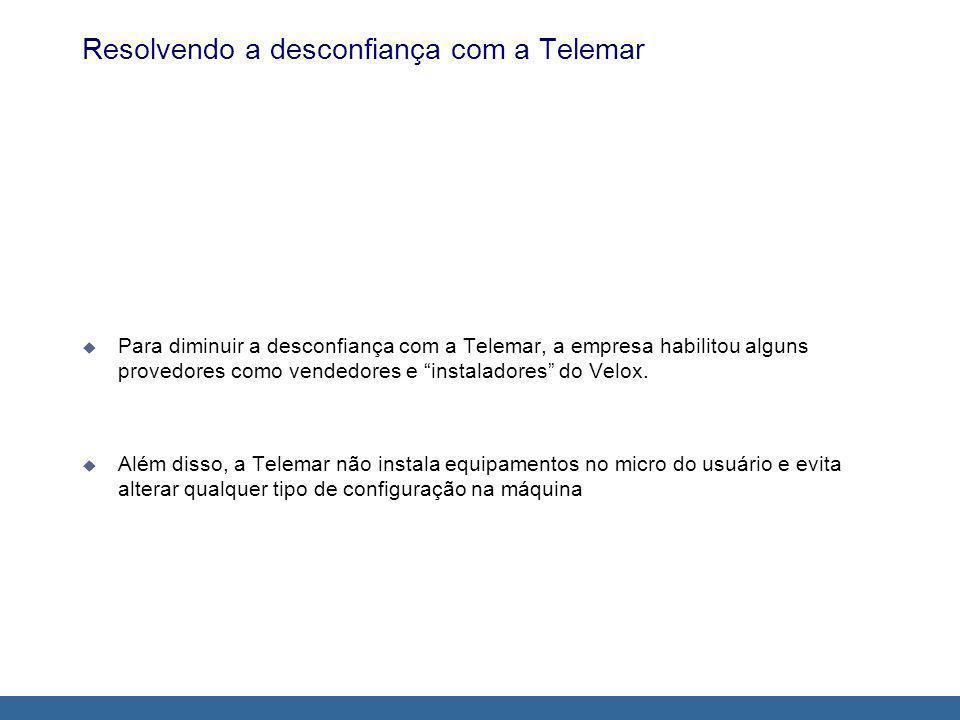 Resolvendo a desconfiança com a Telemar