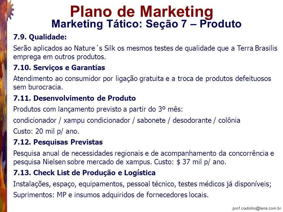 Marketing Tático: Seção 7 – Produto