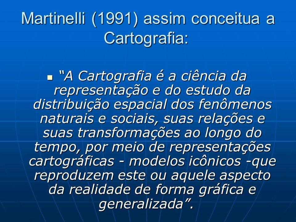 Martinelli (1991) assim conceitua a Cartografia: