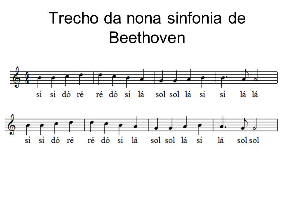Trecho da nona sinfonia de Beethoven