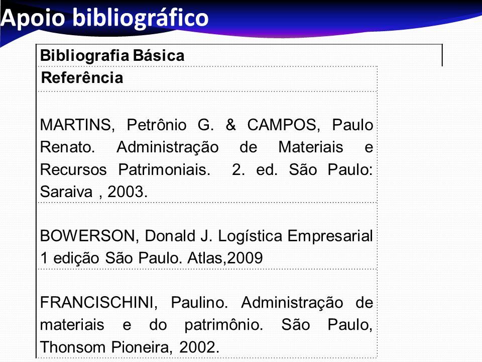 Apoio bibliográfico Bibliografia Básica Referência