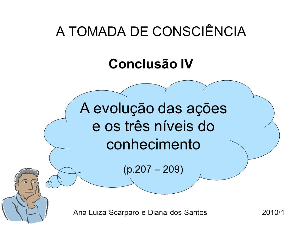 A TOMADA DE CONSCIÊNCIA Conclusão IV