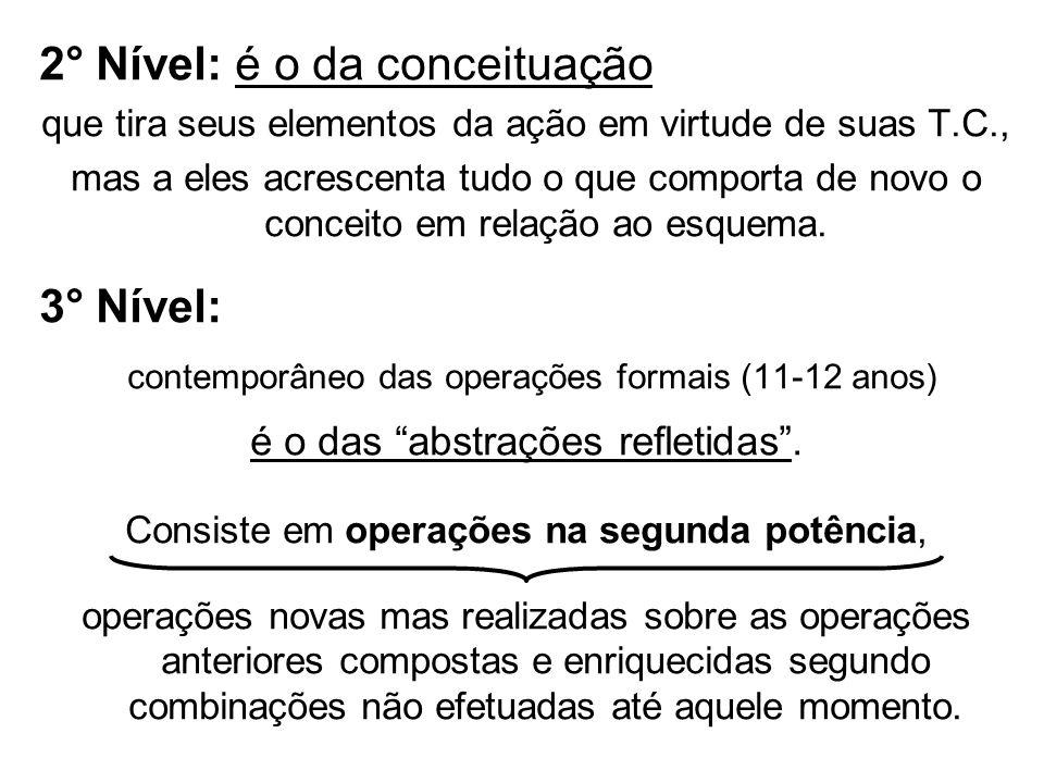 2° Nível: é o da conceituação