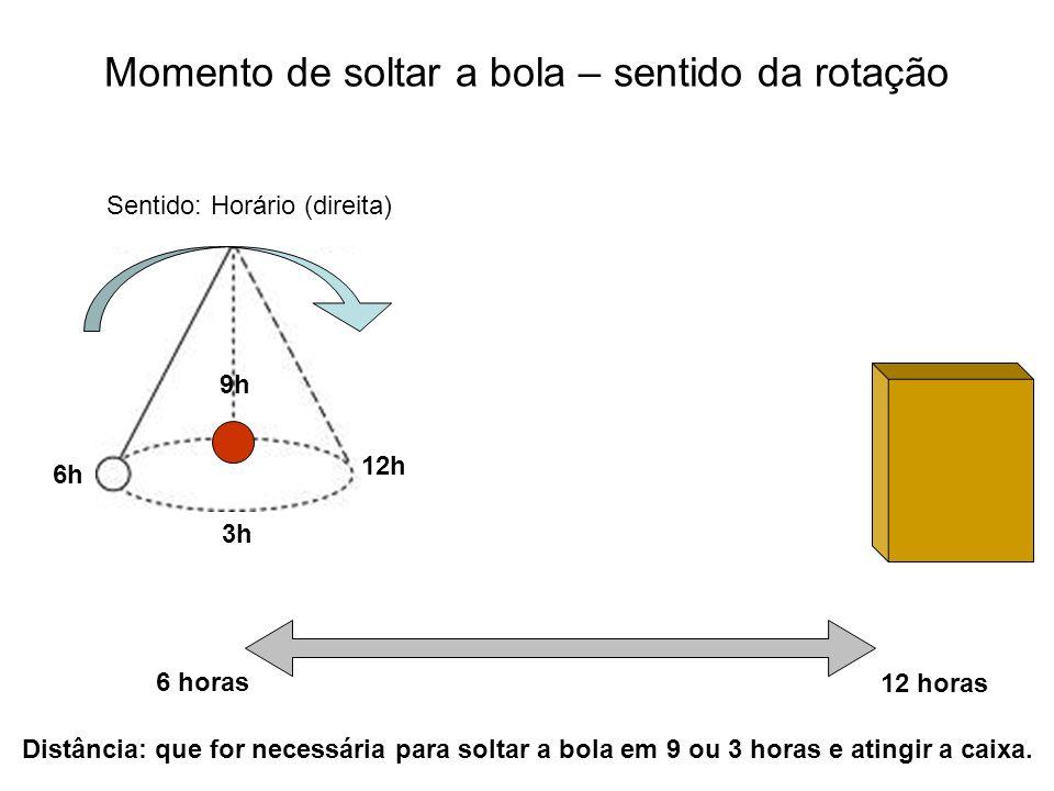 Momento de soltar a bola – sentido da rotação