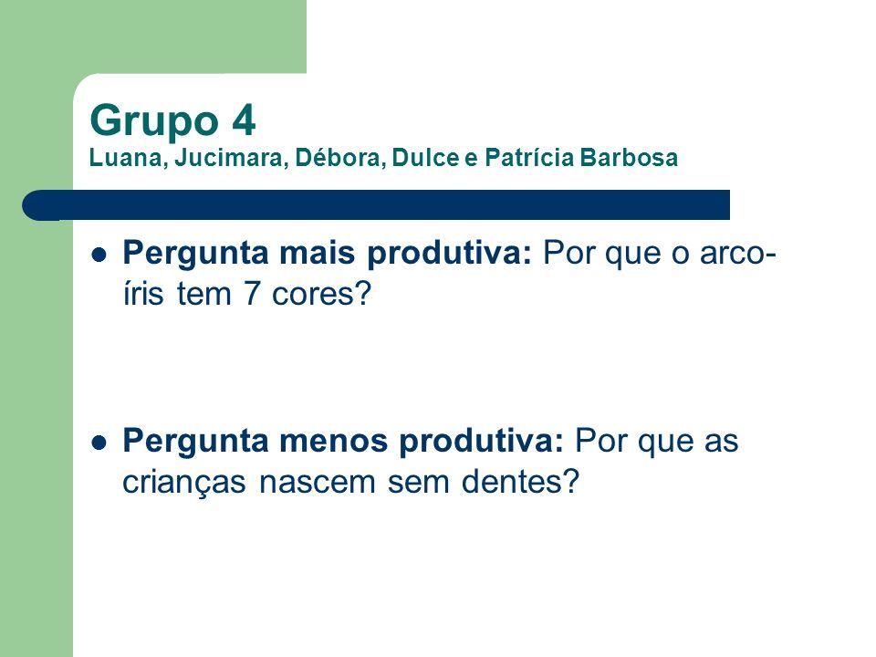 Grupo 4 Luana, Jucimara, Débora, Dulce e Patrícia Barbosa