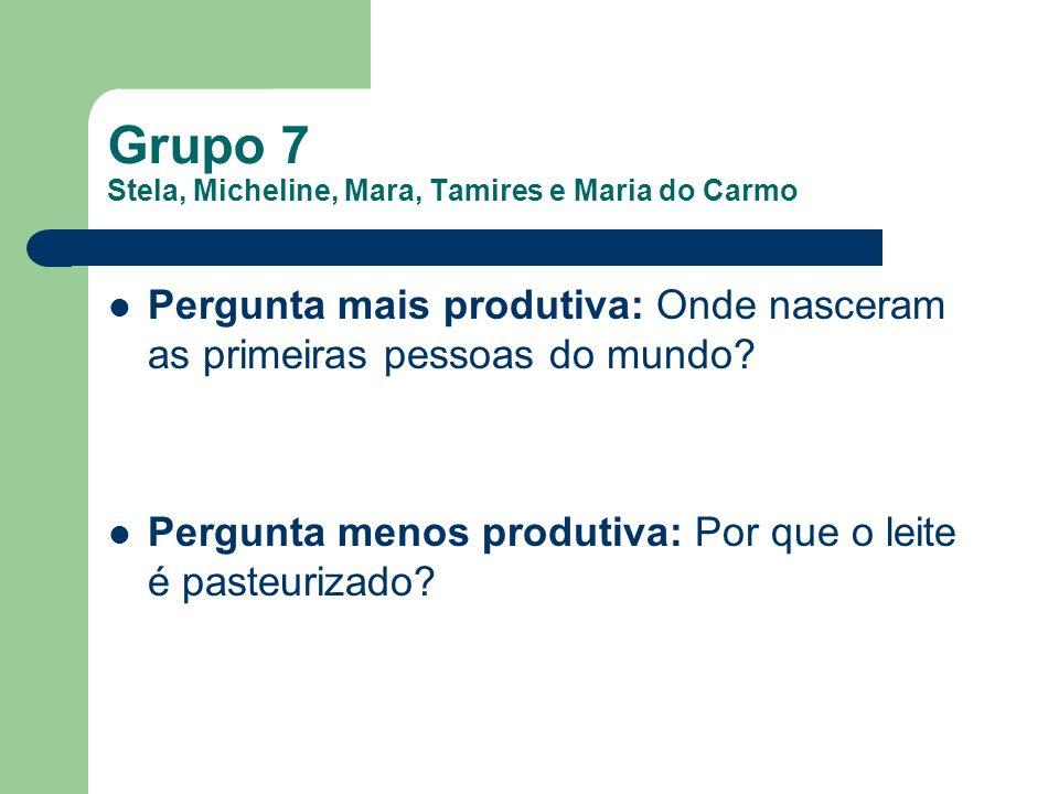 Grupo 7 Stela, Micheline, Mara, Tamires e Maria do Carmo