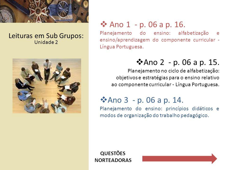 Leituras em Sub Grupos: Unidade 2