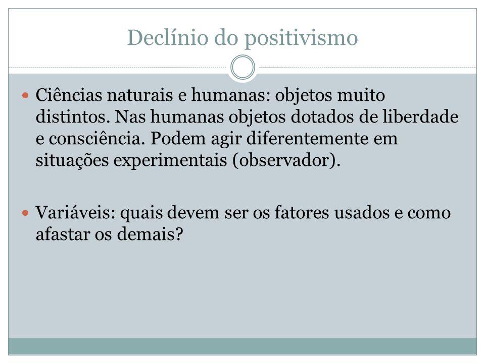 Declínio do positivismo