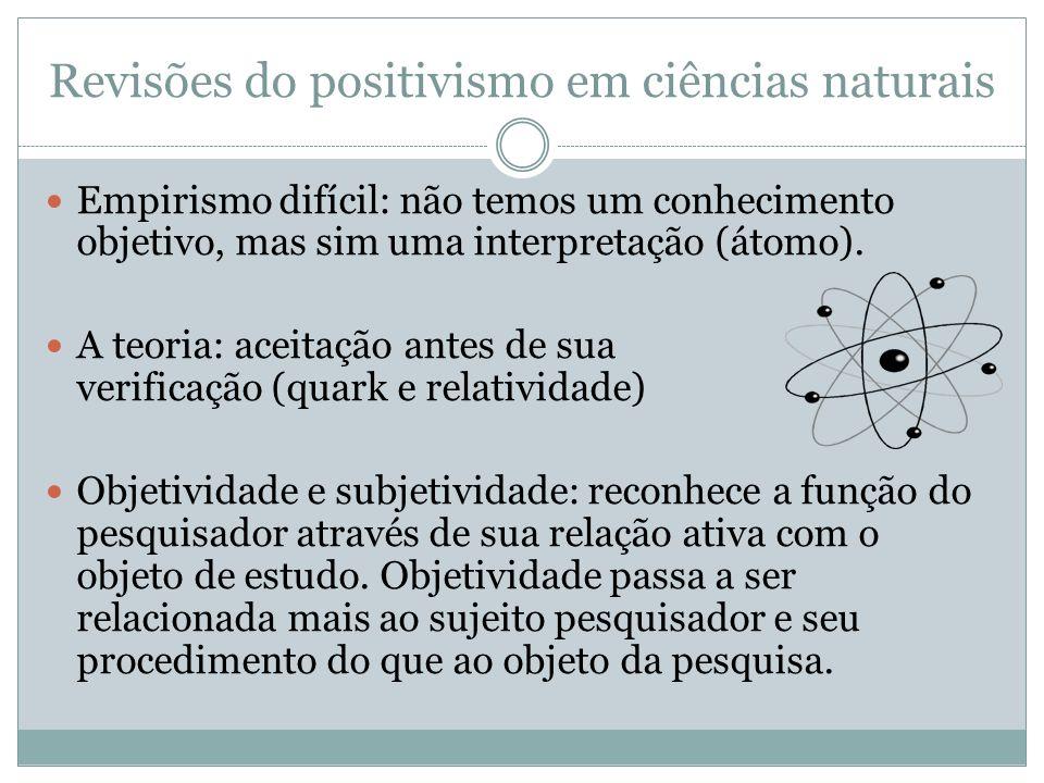 Revisões do positivismo em ciências naturais