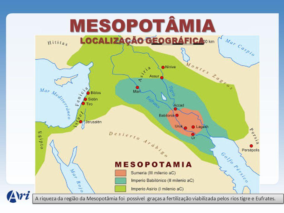 MESOPOTÂMIA LOCALIZAÇÃO GEOGRÁFICA