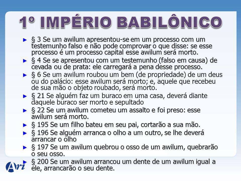 1º IMPÉRIO BABILÔNICO
