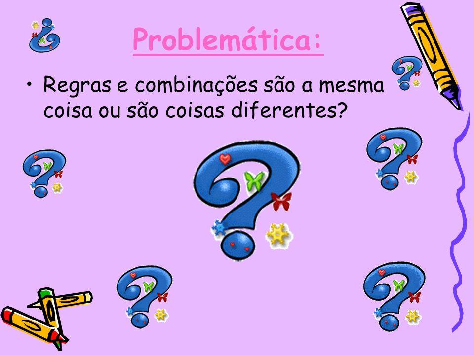 Problemática: Regras e combinações são a mesma coisa ou são coisas diferentes