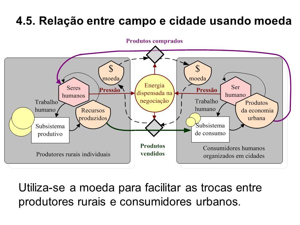 4.5. Relação entre campo e cidade usando moeda