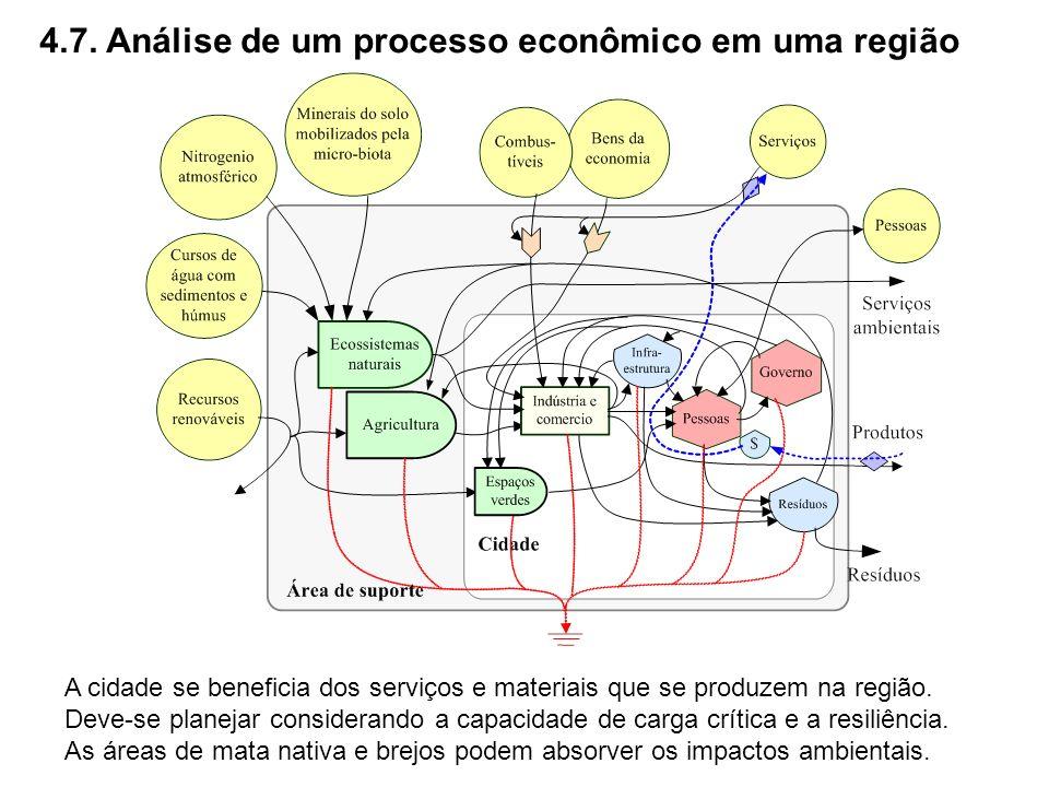 4.7. Análise de um processo econômico em uma região