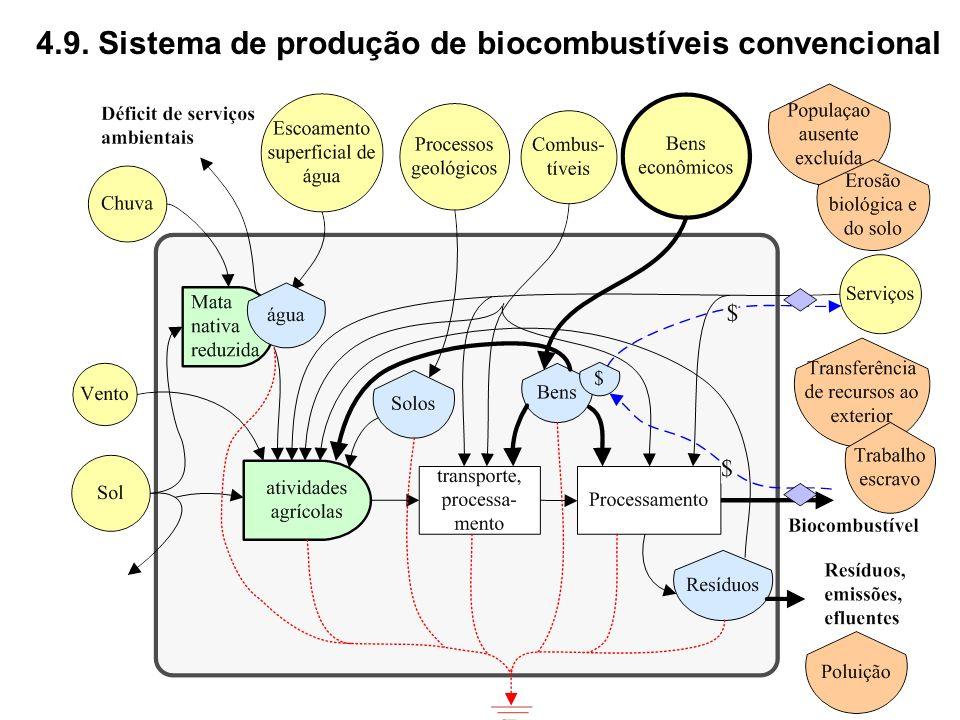 4.9. Sistema de produção de biocombustíveis convencional