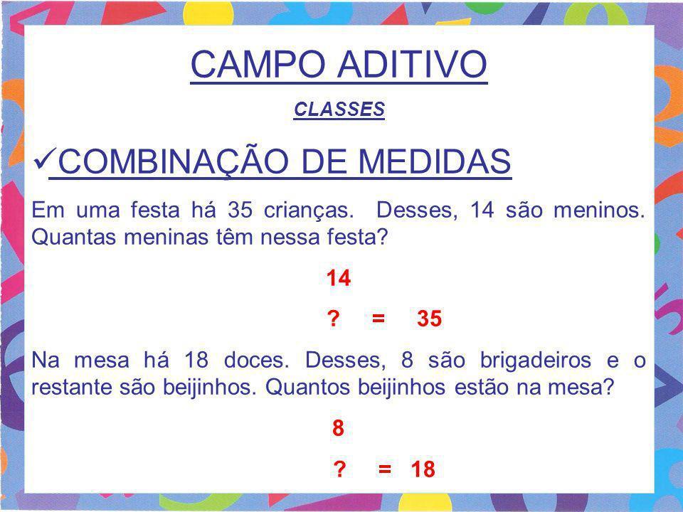 CAMPO ADITIVO COMBINAÇÃO DE MEDIDAS