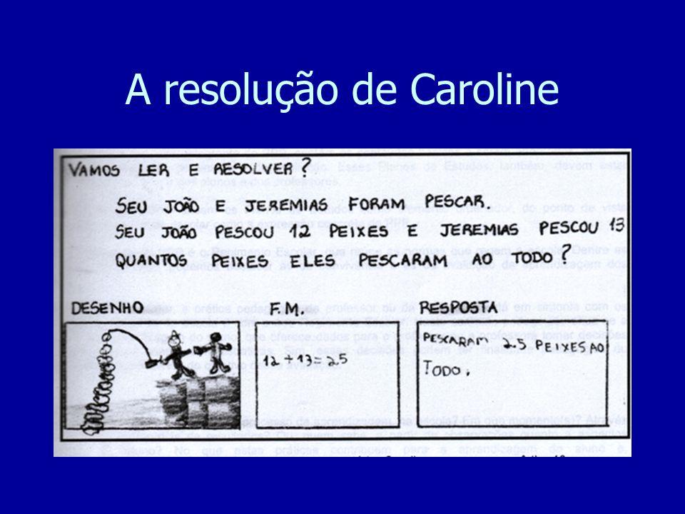 A resolução de Caroline