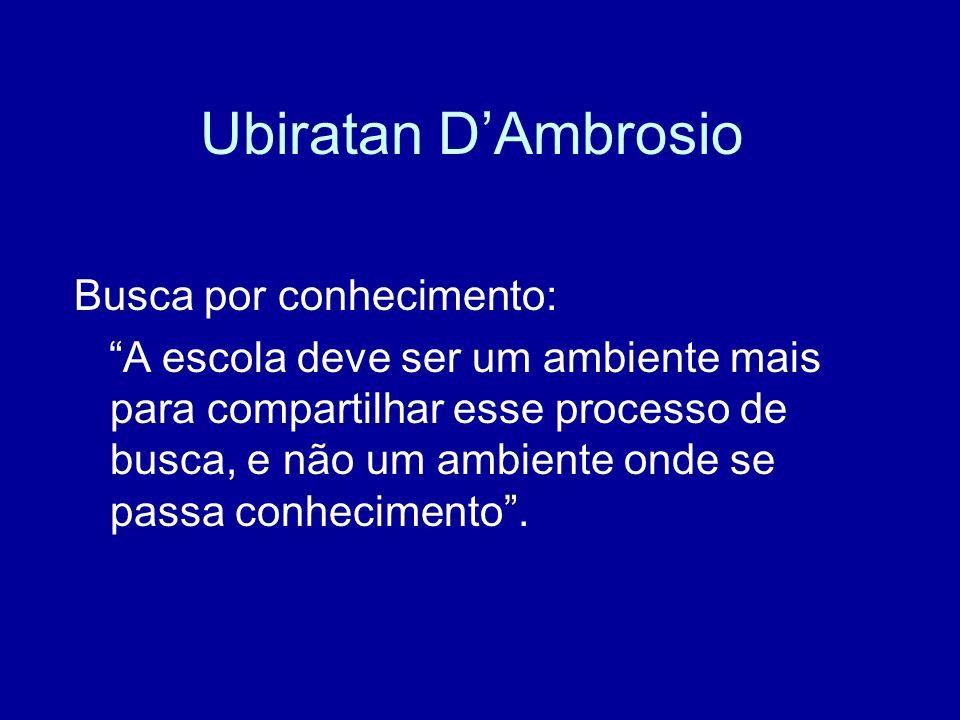 Ubiratan D'Ambrosio Busca por conhecimento: