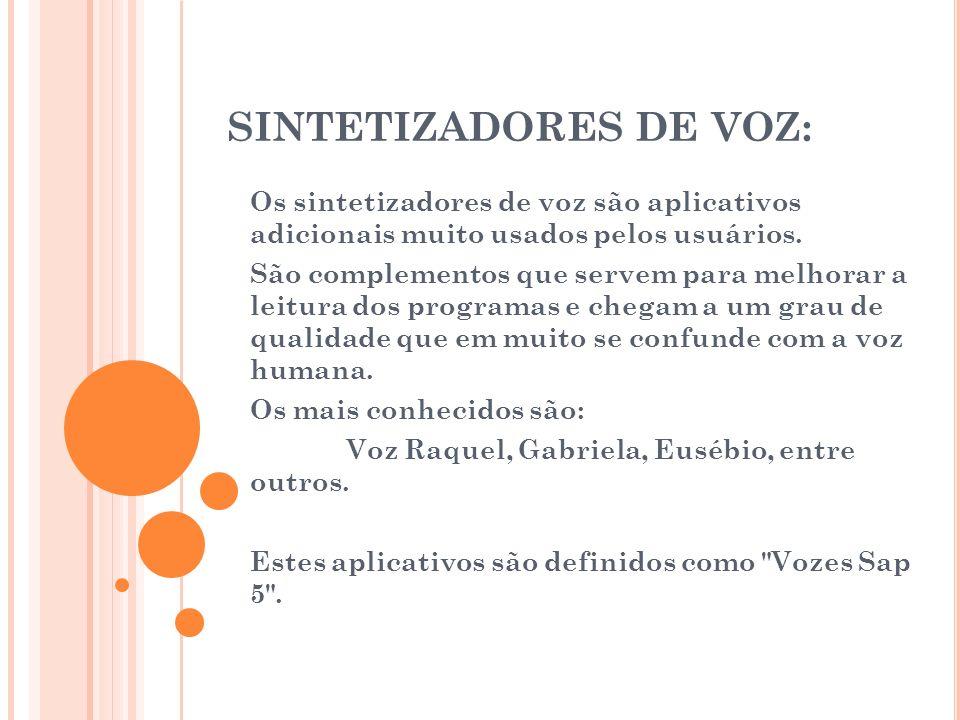 SINTETIZADORES DE VOZ: