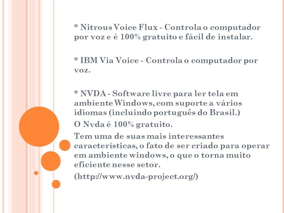 * Nitrous Voice Flux - Controla o computador por voz e é 100% gratuito e fácil de instalar.