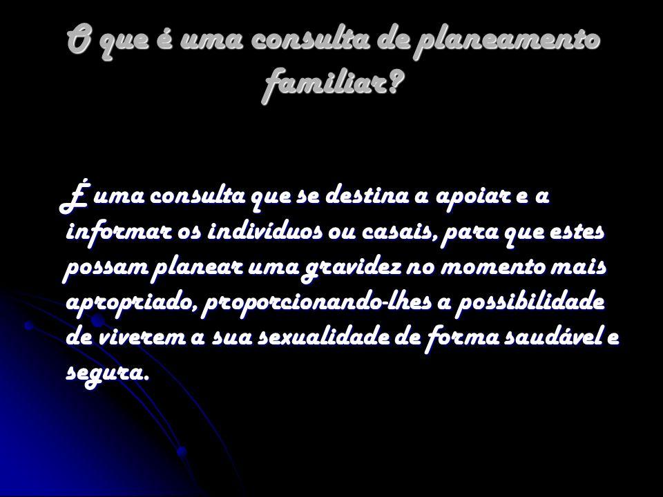 O que é uma consulta de planeamento familiar