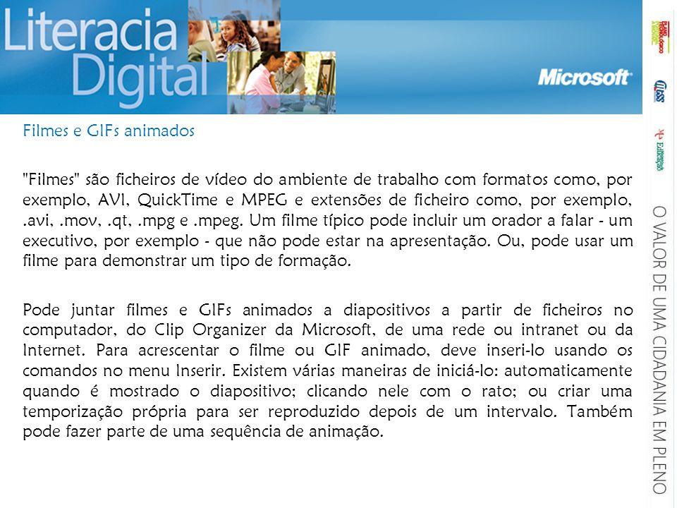 Filmes e GIFs animados