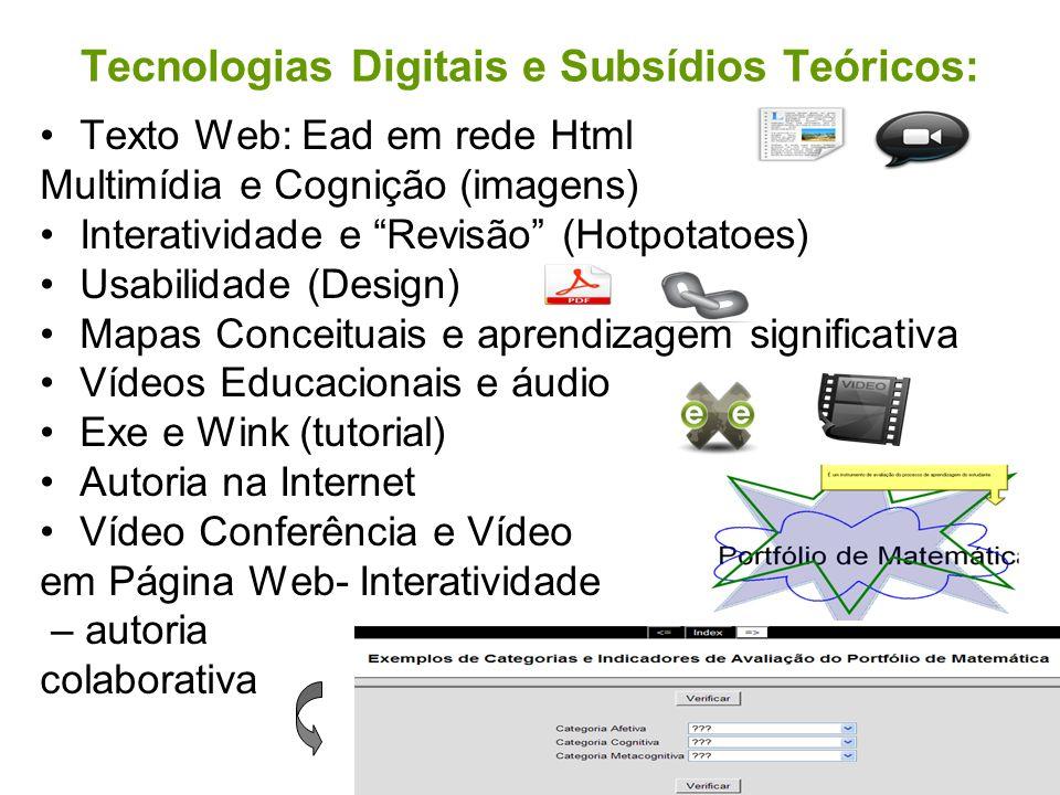 Tecnologias Digitais e Subsídios Teóricos: