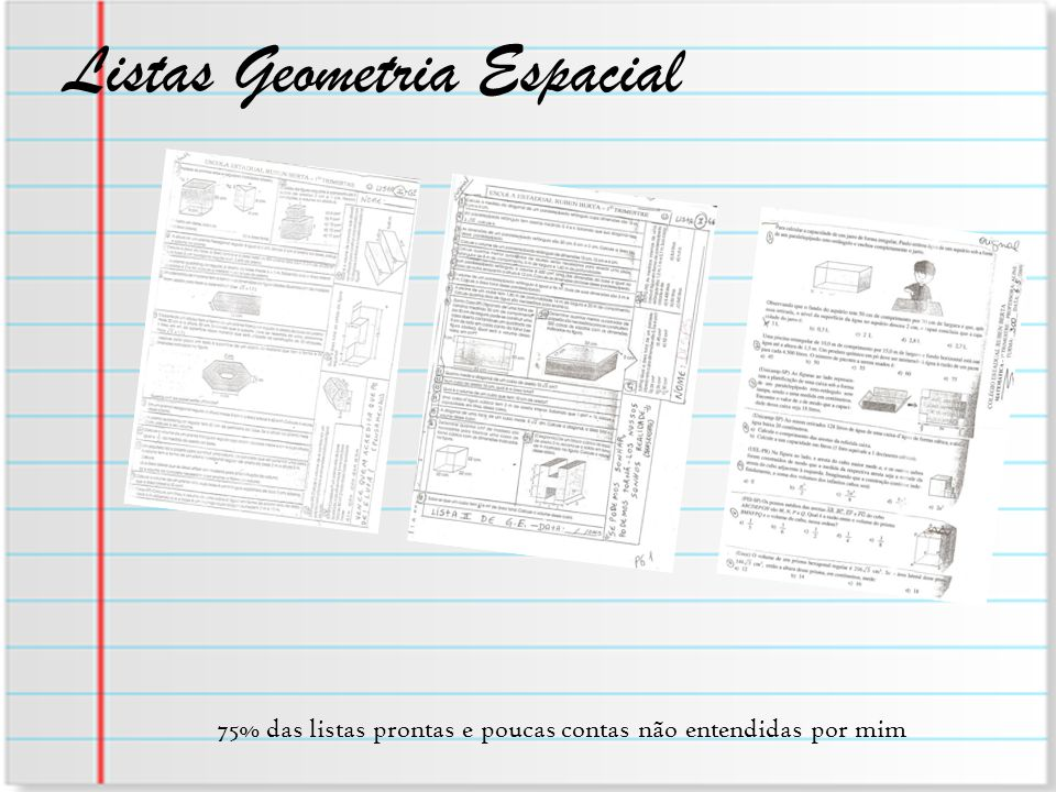 Listas Geometria Espacial