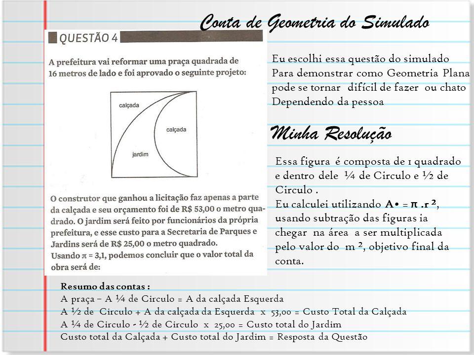 Conta de Geometria do Simulado