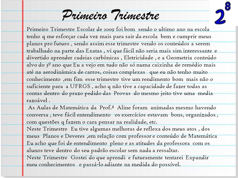 Primeiro Trimestre