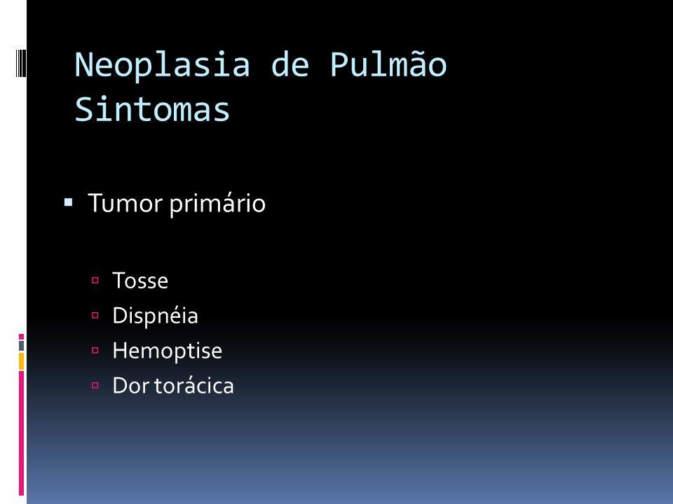 Neoplasia de Pulmão Sintomas