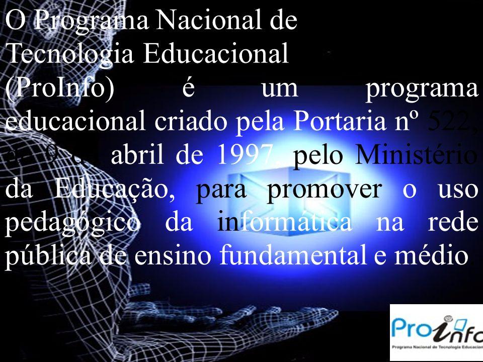 O Programa Nacional de Tecnologia Educacional