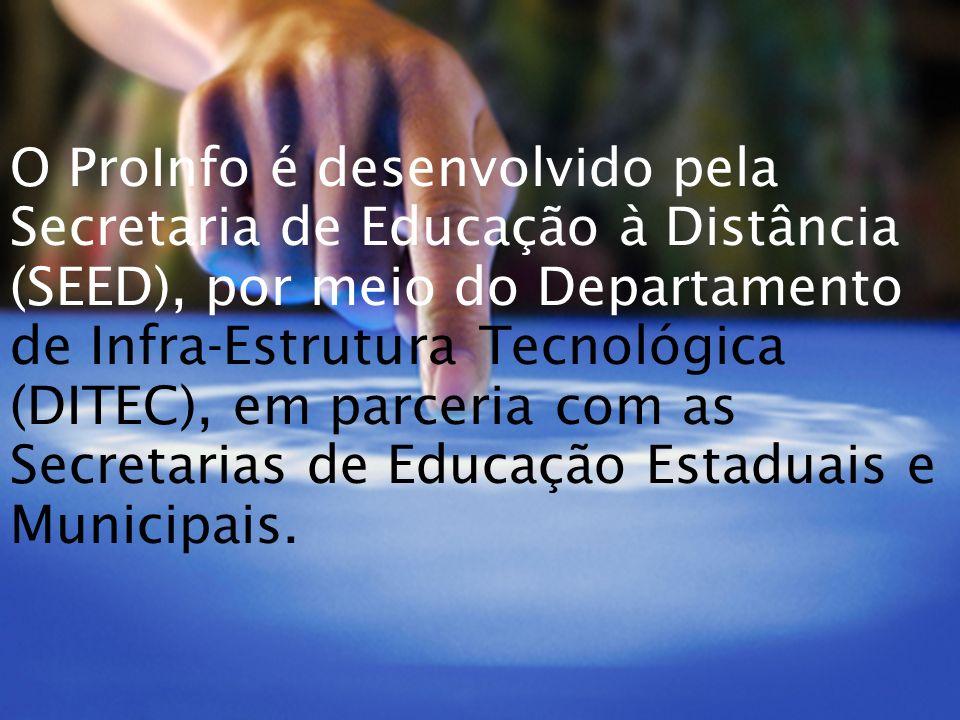 O ProInfo é desenvolvido pela Secretaria de Educação à Distância (SEED), por meio do Departamento de Infra-Estrutura Tecnológica (DITEC), em parceria com as Secretarias de Educação Estaduais e Municipais.