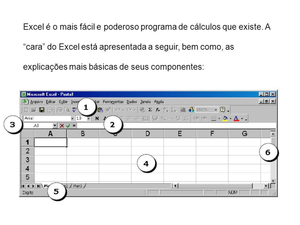 Excel é o mais fácil e poderoso programa de cálculos que existe