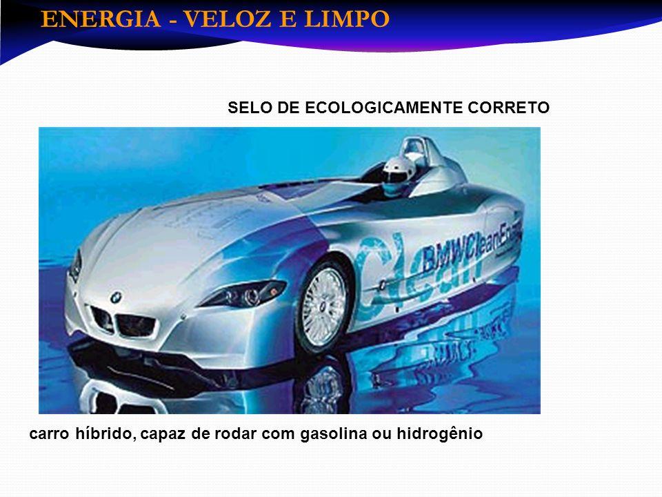 ENERGIA - VELOZ E LIMPO SELO DE ECOLOGICAMENTE CORRETO
