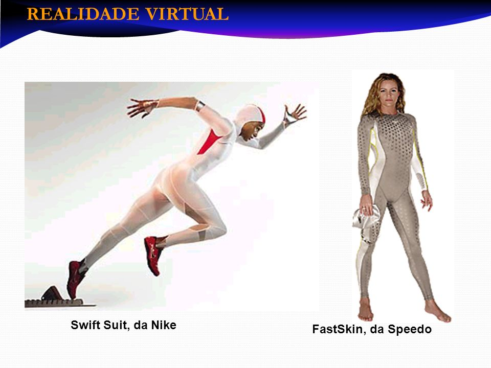REALIDADE VIRTUAL Swift Suit, da Nike FastSkin, da Speedo