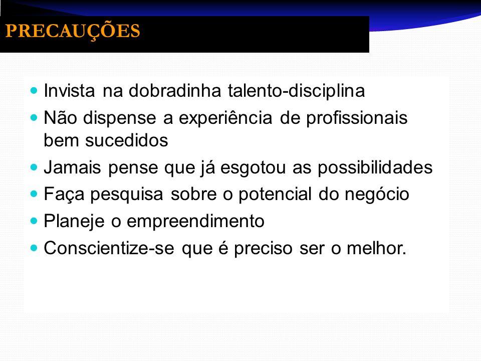 PRECAUÇÕES Invista na dobradinha talento-disciplina