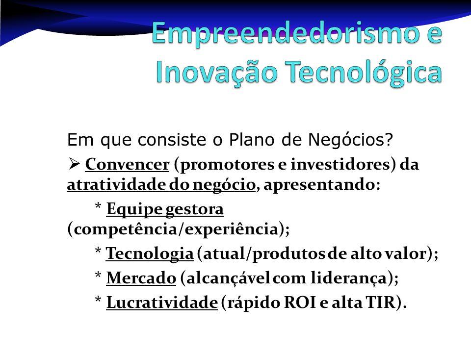 Empreendedorismo e Inovação Tecnológica